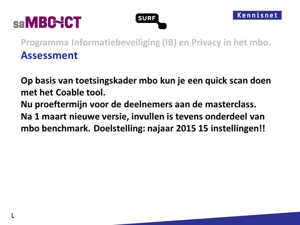 Informatiemanagement Programma Informatiebeveiliging (IB) en Privacy in het mbo. L Kennisdeling