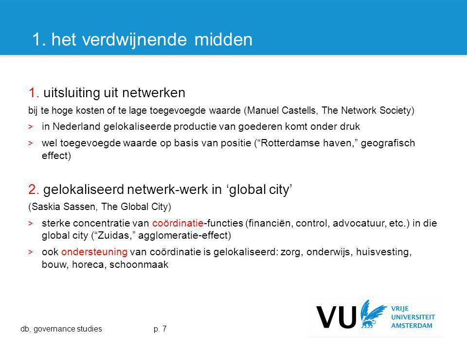 1. uitsluiting uit netwerken bij te hoge kosten of te lage toegevoegde waarde (Manuel Castells, The Network Society) > in Nederland gelokaliseerde pro