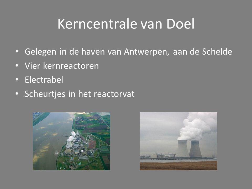 Kerncentrale van Tihange Gelegen in Hoei, in de provincie Luik Drie kernreactoren Electrabel en SPE Ook scheurtjes in reactorvat