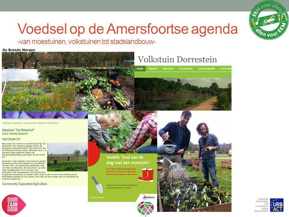 Voedsel op de Amersfoortse agenda -van moestuinen, volkstuinen tot stadslandbouw-