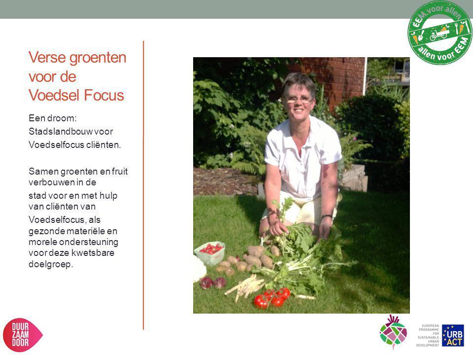 Verse groenten voor de Voedsel Focus Een droom: Stadslandbouw voor Voedselfocus cliënten. Samen groenten en fruit verbouwen in de stad voor en met hul