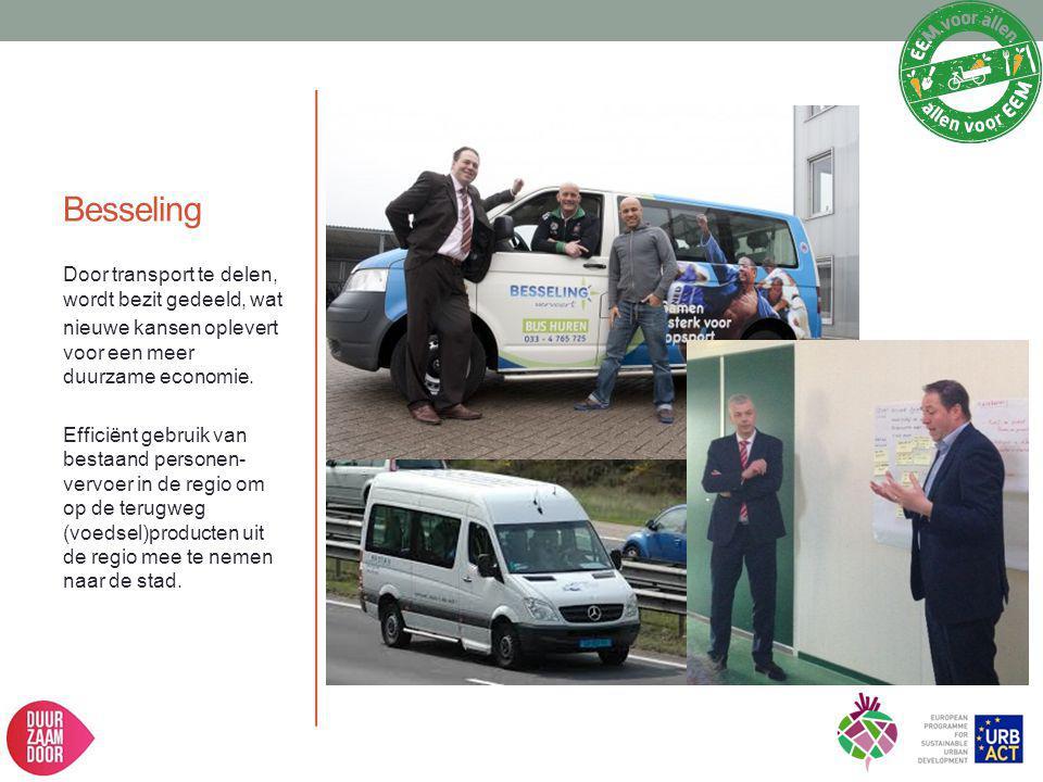 Besseling Door transport te delen, wordt bezit gedeeld, wat nieuwe kansen oplevert voor een meer duurzame economie. Efficiënt gebruik van bestaand per