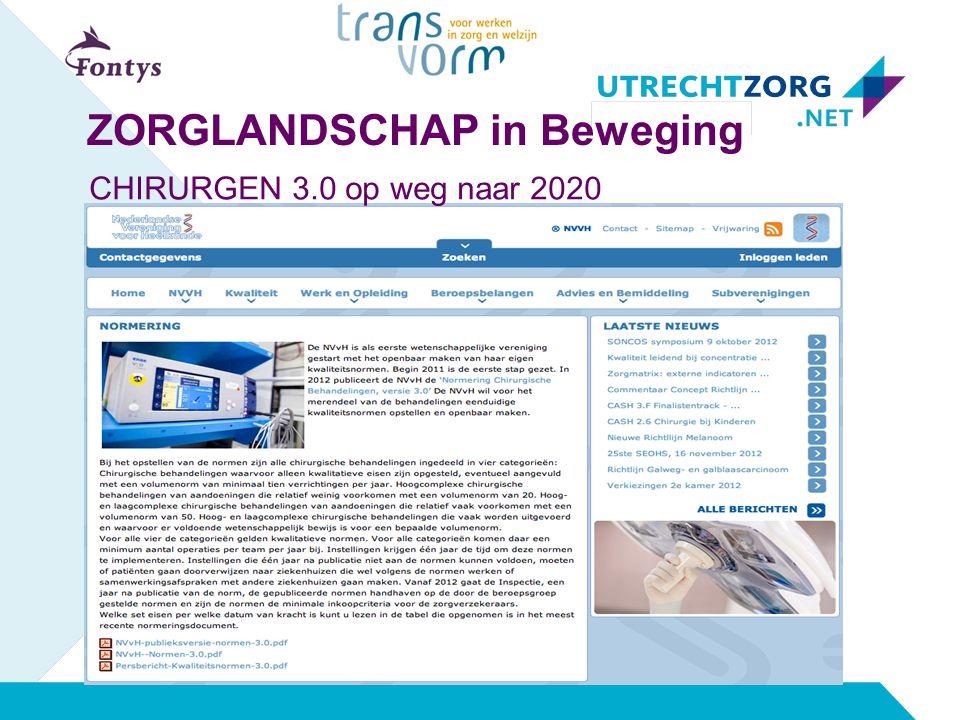 CHIRURGEN 3.0 op weg naar 2020 ZORGLANDSCHAP in Beweging