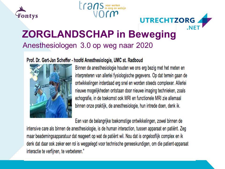 Anesthesiologen 3.0 op weg naar 2020 ZORGLANDSCHAP in Beweging