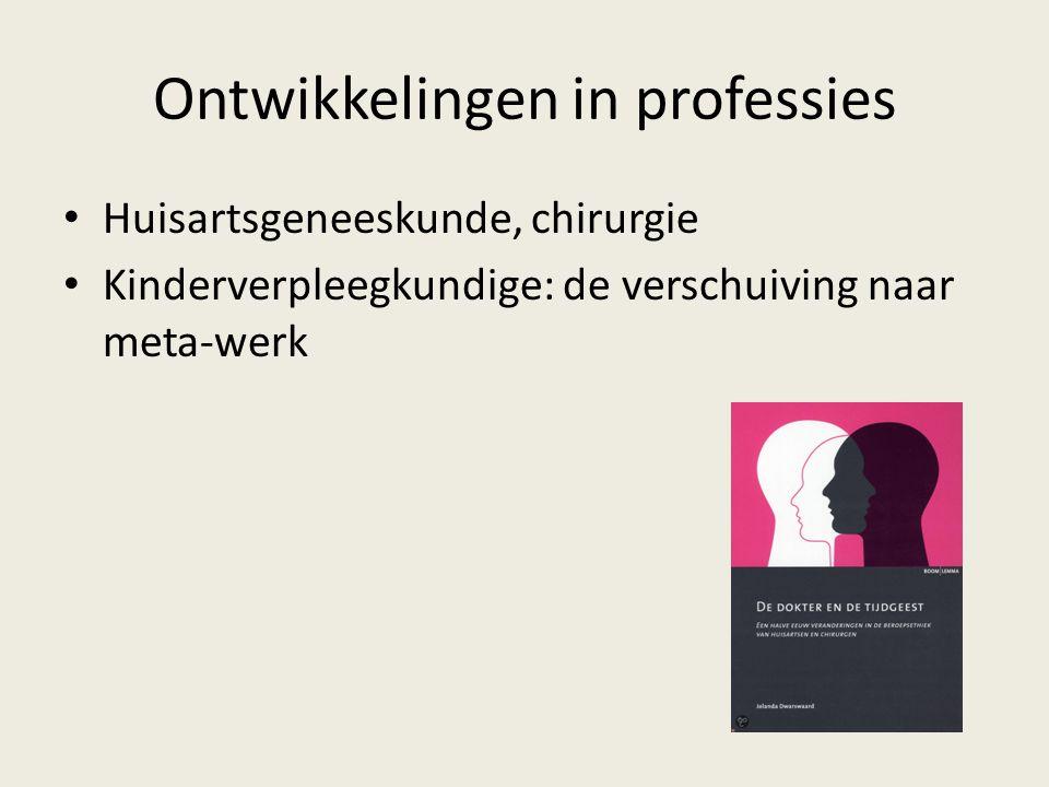 Ontwikkelingen in professies Huisartsgeneeskunde, chirurgie Kinderverpleegkundige: de verschuiving naar meta-werk