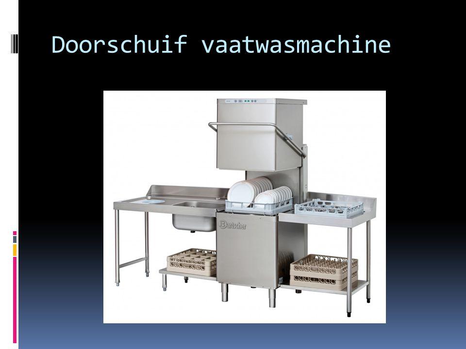 Doorschuif vaatwasmachine