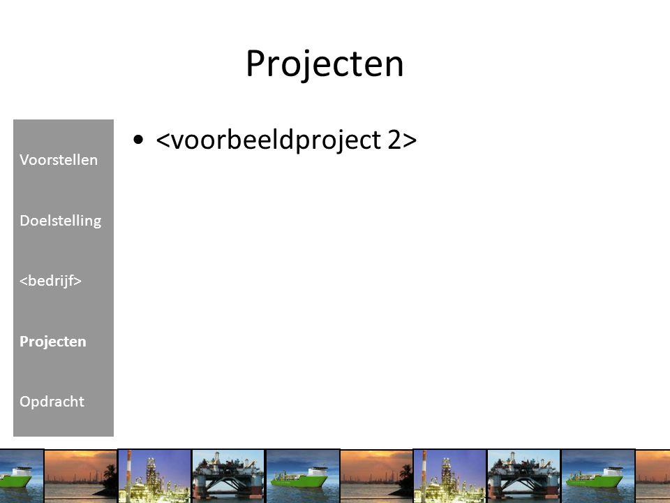 Projecten Voorstellen Doelstelling Projecten Opdracht