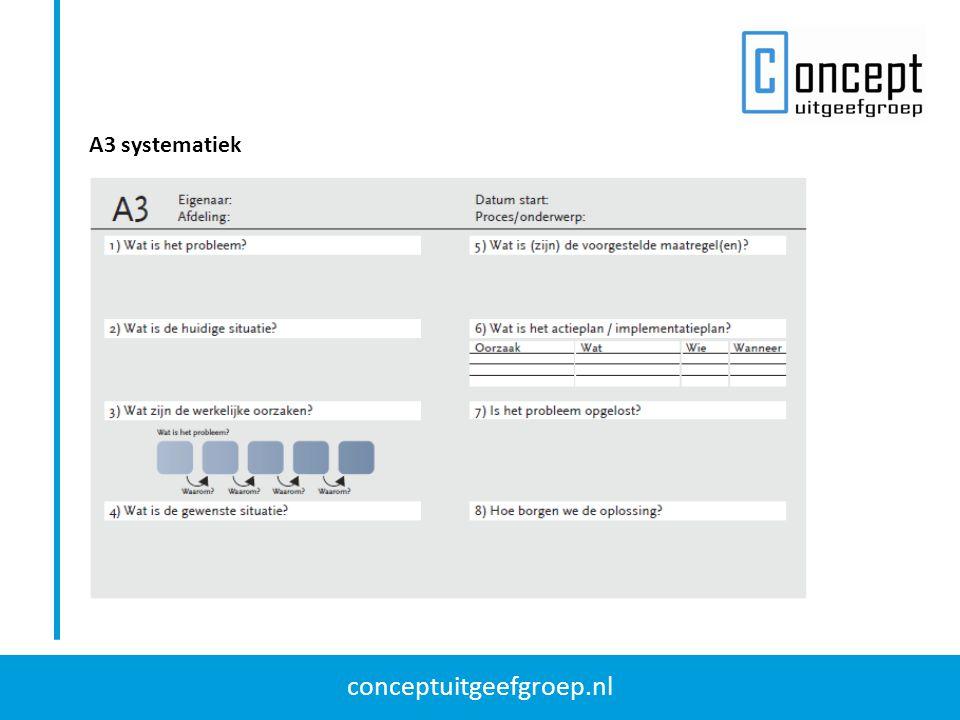 conceptuitgeefgroep.nl A3 systematiek