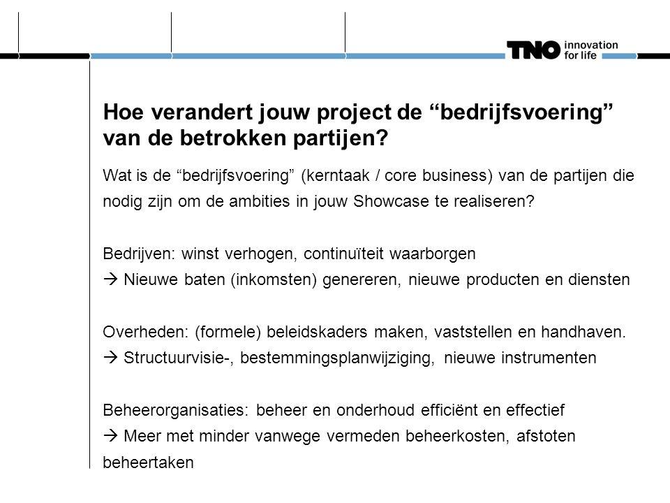 Hoe verandert jouw project de bedrijfsvoering van de betrokken partijen.
