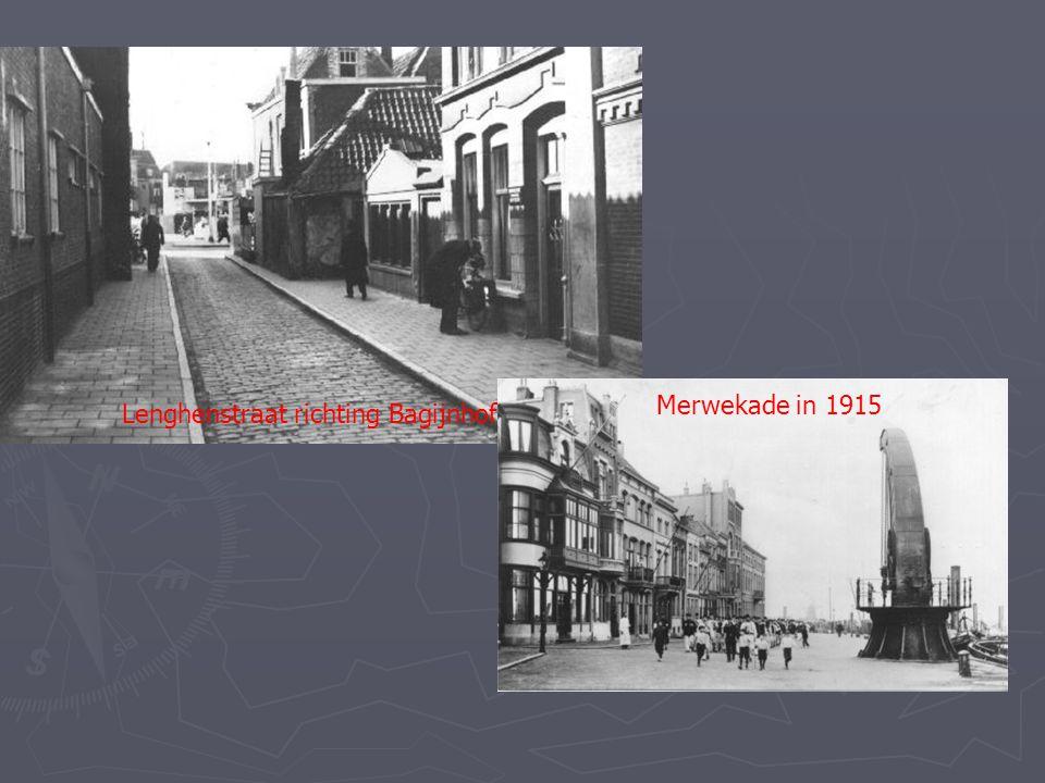 Lenghenstraat richting Bagijnhof 1940 Merwekade in 1915
