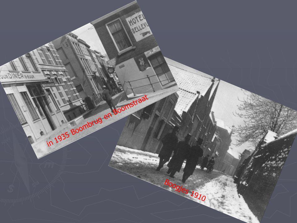 Boogjes bij het Slikveld in 1939 Boombrug en Boomstraat in 1935