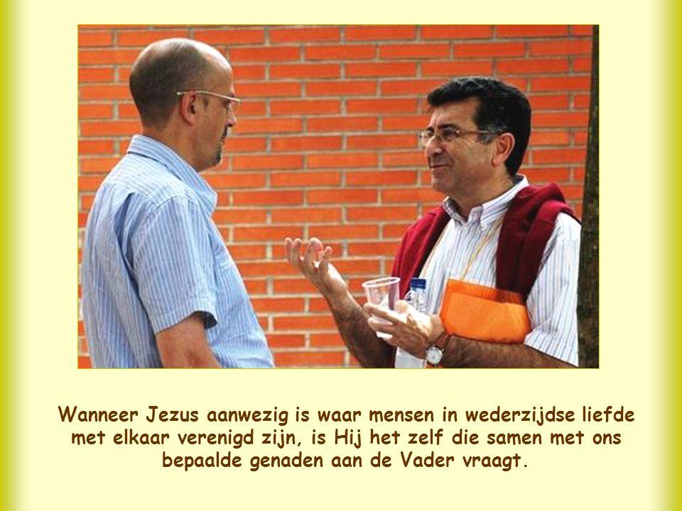 Jezus zegt ons hier wat het geheim is van de verhoring van zo'n gebed. Dat ligt in de woorden
