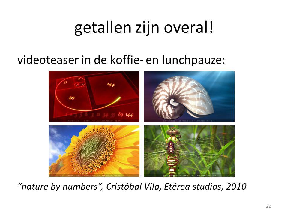 """getallen zijn overal! videoteaser in de koffie- en lunchpauze: """"nature by numbers"""", Cristóbal Vila, Etérea studios, 2010 22"""