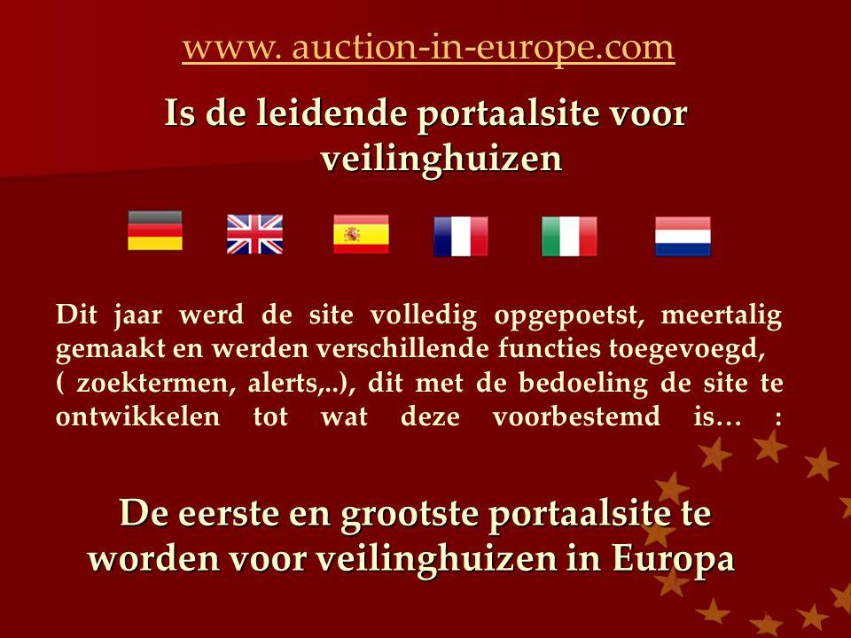 Is de leidende portaalsite voor veilinghuizen www.