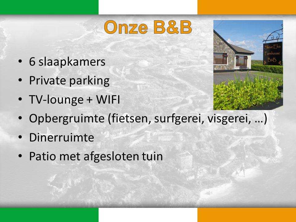 6 slaapkamers Private parking TV-lounge + WIFI Opbergruimte (fietsen, surfgerei, visgerei, …) Dinerruimte Patio met afgesloten tuin