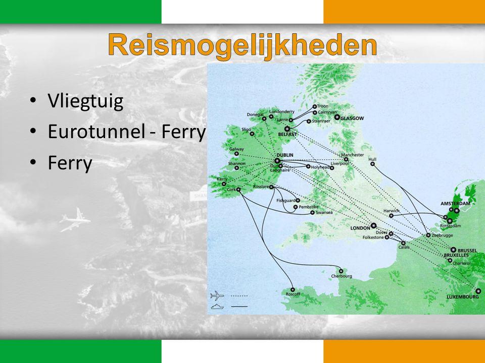 Aerlingus (vanuit Zaventem) – Cork (2x per week) – Dublin (dagelijks) Ryanair (vanuit Charleroi & Zaventem) – Dublin (dagelijks)