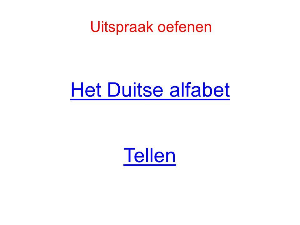 Het Duitse alfabet Tellen Uitspraak oefenen