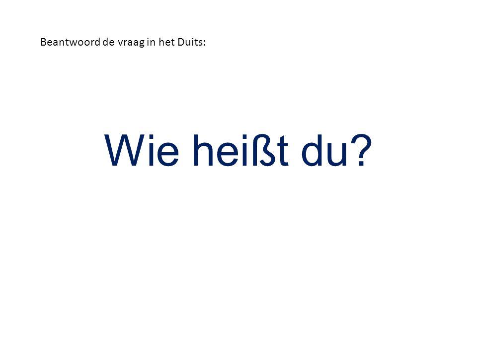 Wie heißt du? Beantwoord de vraag in het Duits: