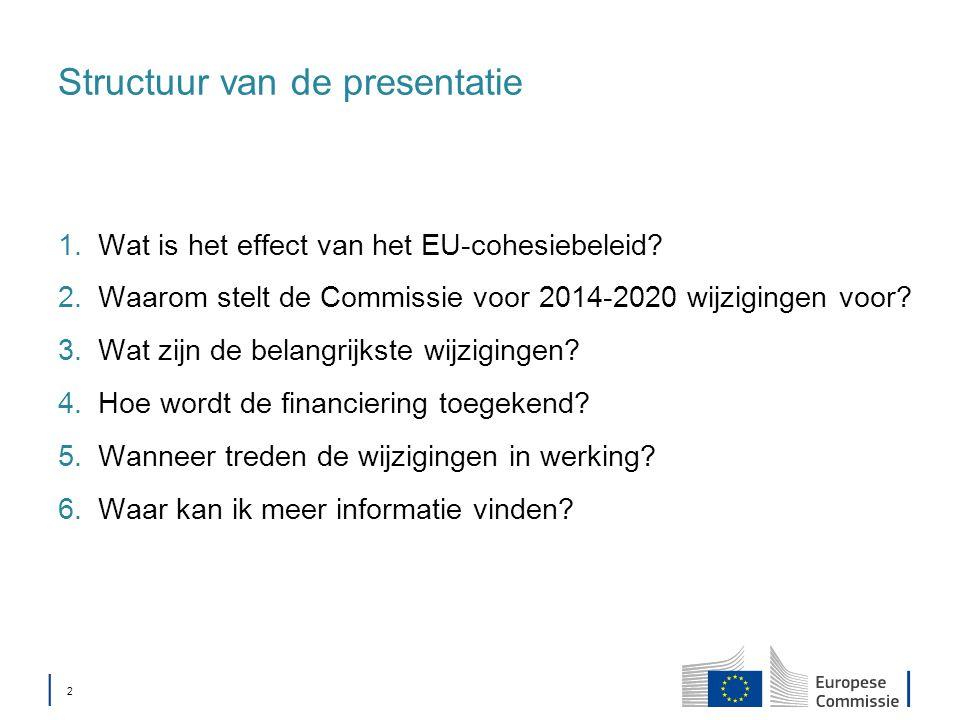 │ 2│ 2 Structuur van de presentatie 1.Wat is het effect van het EU-cohesiebeleid.
