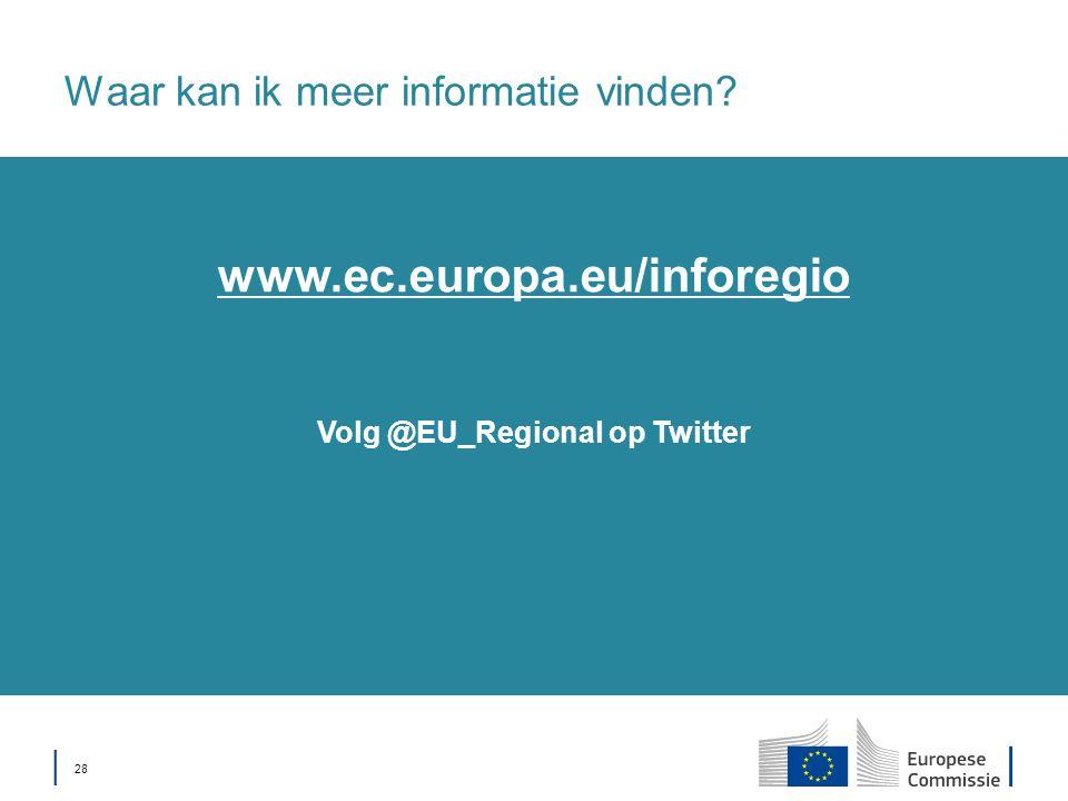 │ 28 Waar kan ik meer informatie vinden Volg @EU_Regional op Twitter www.ec.europa.eu/inforegio