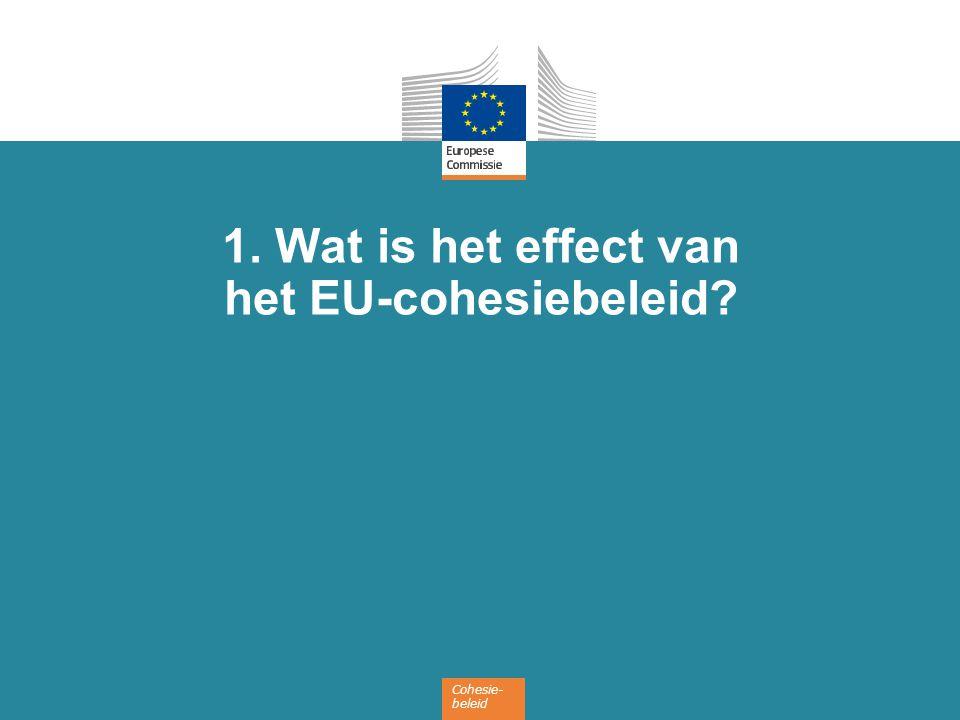 Cohesie- beleid 1. Wat is het effect van het EU-cohesiebeleid