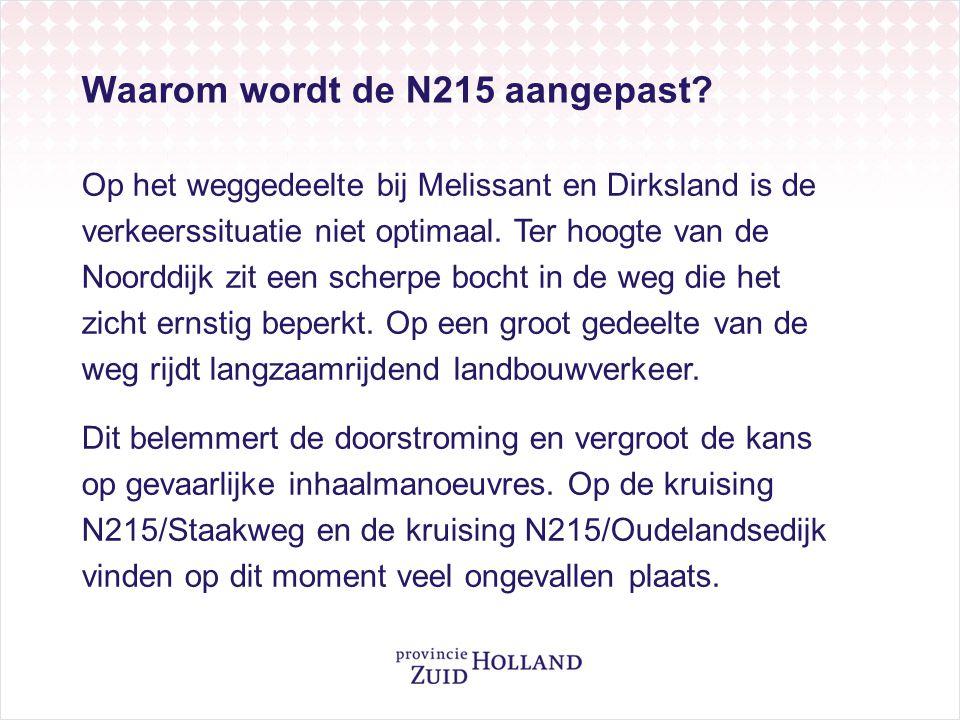 Waarom wordt de N215 aangepast.