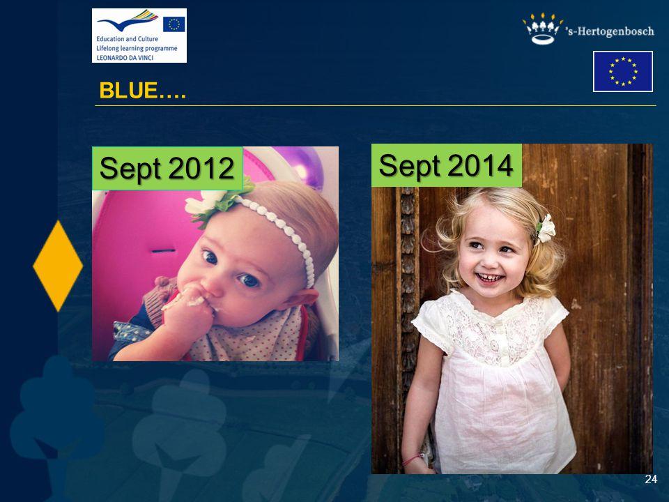 24 BLUE…. Sept 2012 Sept 2014