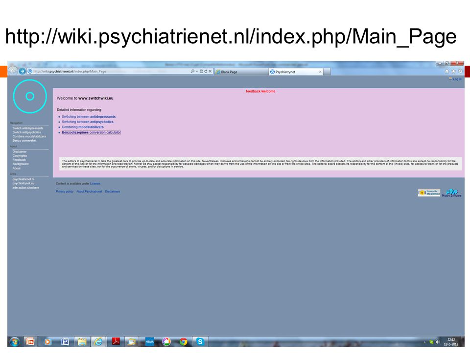 http://wiki.psychiatrienet.nl/index.php/Main_Page
