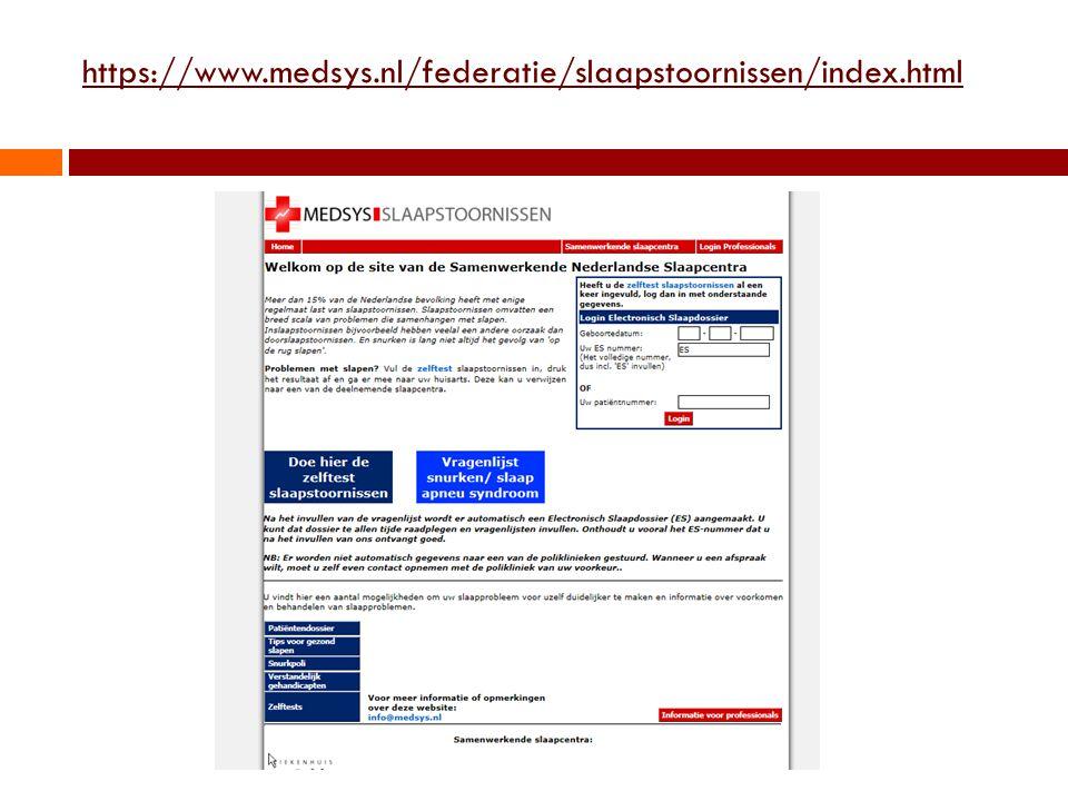 https://www.medsys.nl/federatie/slaapstoornissen/index.html