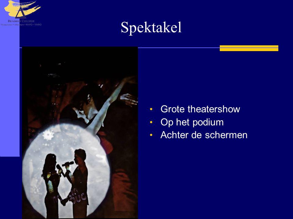 Spektakel Grote theatershow Op het podium Achter de schermen