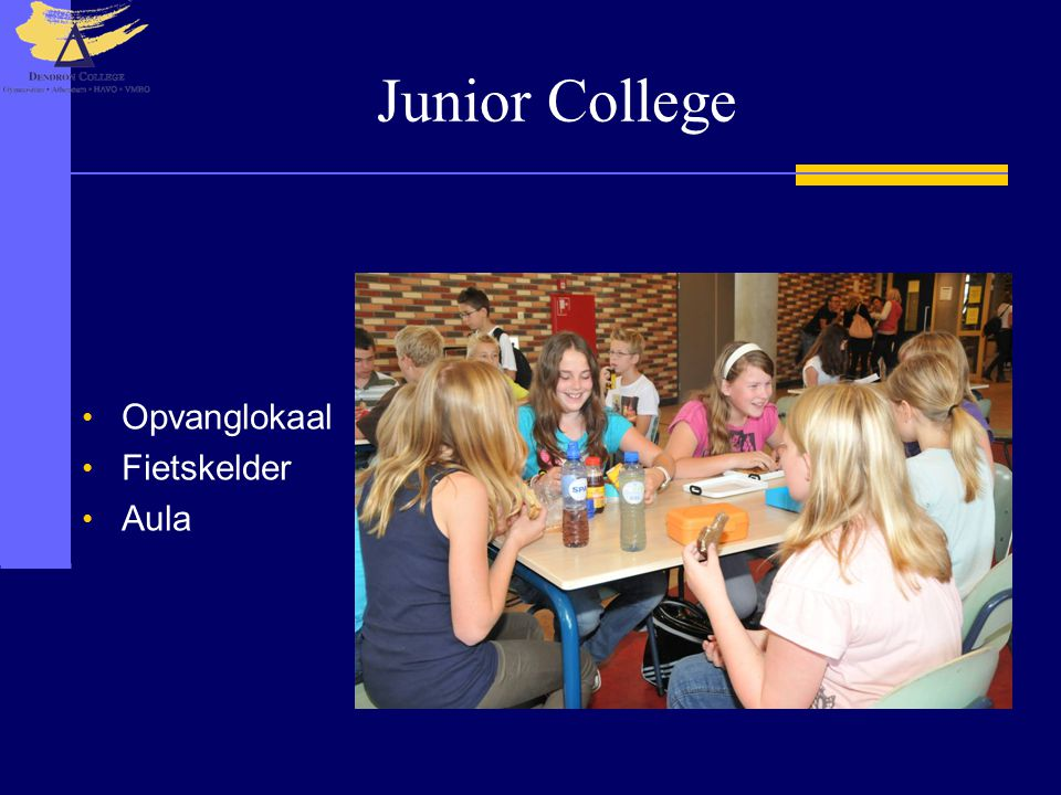 Junior College Opvanglokaal Fietskelder Aula