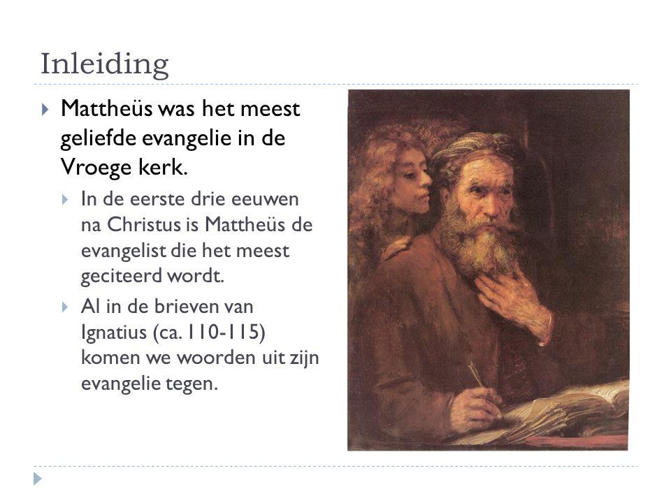 Wie schreef Mattheüs. Het evangelie zegt zelf niets over zijn auteur.