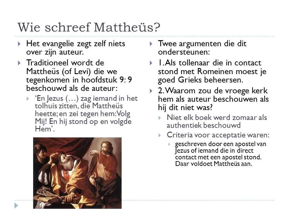 Wanneer is het geschreven. Zoals we al eerder gezien hebben, gebruikte Mattheüs Markus als bron.