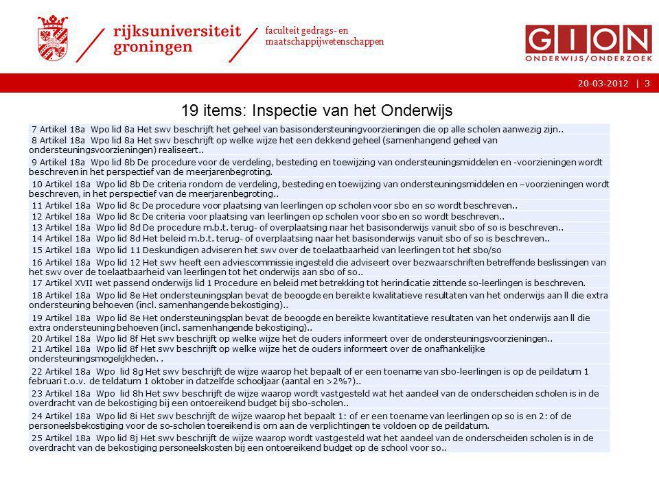 |20-03-2012 faculteit gedrags- en maatschappijwetenschappen 3 7 Artikel 18a Wpo lid 8a Het swv beschrijft het geheel van basisondersteuningvoorziening