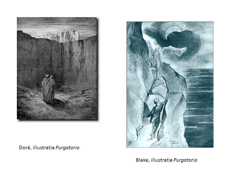 Doré, illustratie Purgatorio Blake, illustratie Purgatorio
