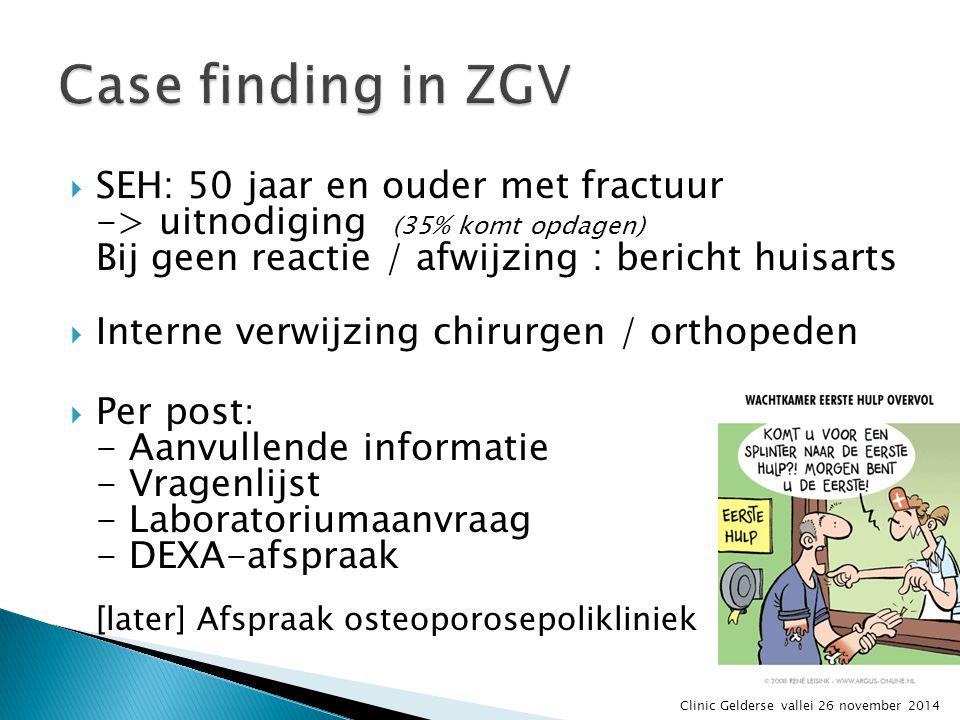 In kaart brengen: hoe doet u dit? En daarna: de follow-up? Clinic Gelderse vallei 26 november 2014