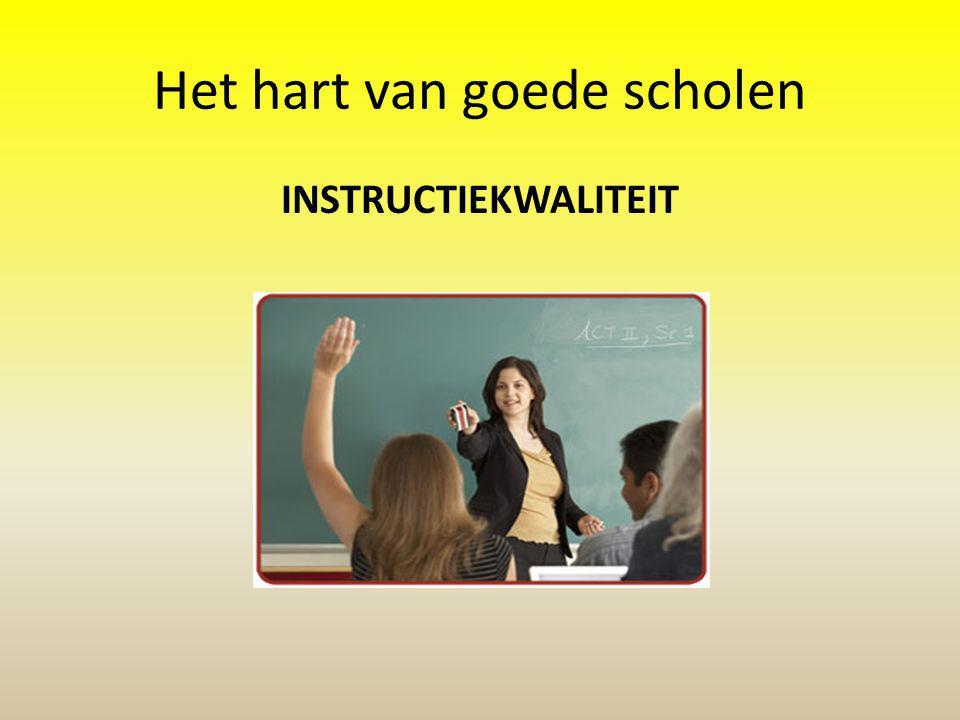 Het hart van goede scholen INSTRUCTIEKWALITEIT