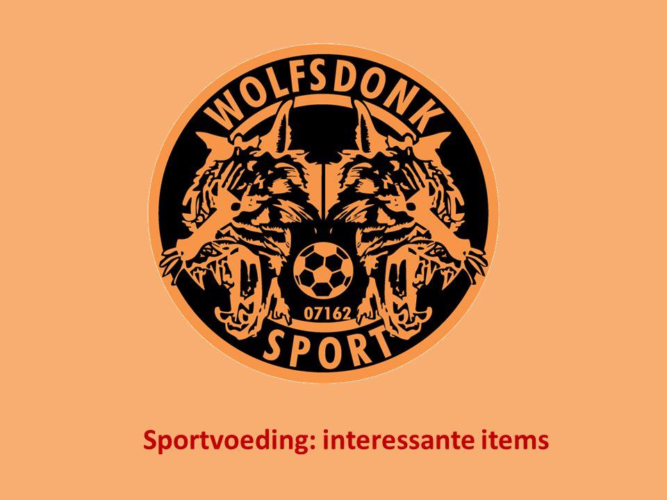 Sportvoeding: interessante items