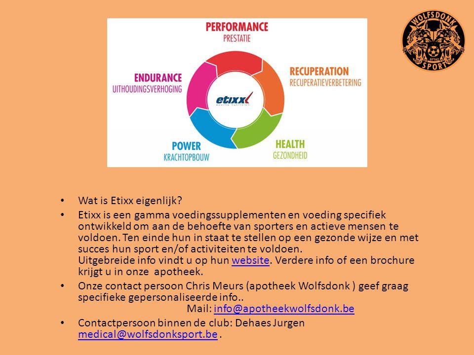Wat is Etixx eigenlijk? Etixx is een gamma voedingssupplementen en voeding specifiek ontwikkeld om aan de behoefte van sporters en actieve mensen te v