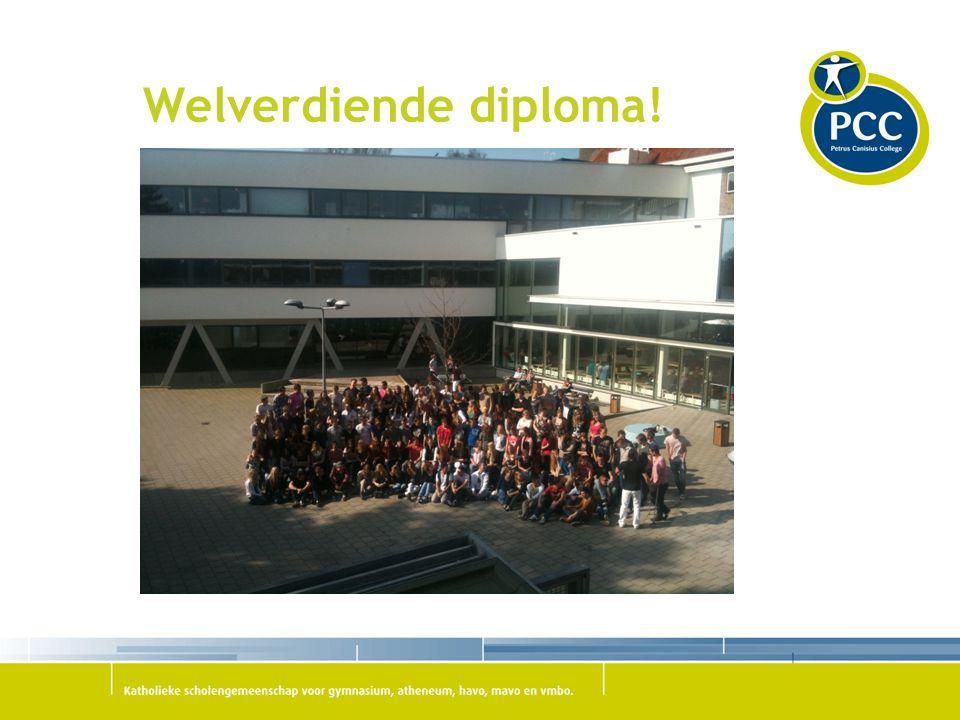 Welverdiende diploma!