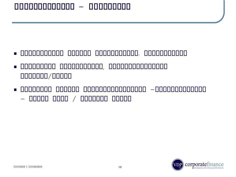 P RIVILEGED & C ONFIDENTIAL Ondernemingen - typologie 10  Onderneming versus eenmanszaak : organisatie  Familiale onderneming, afhankelijkheid perso