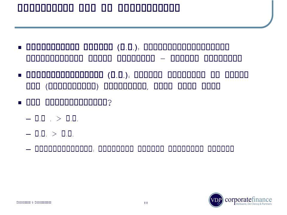 P RIVILEGED & C ONFIDENTIAL Waardering van de onderneming 11  Intrinsieke waarde ( I.