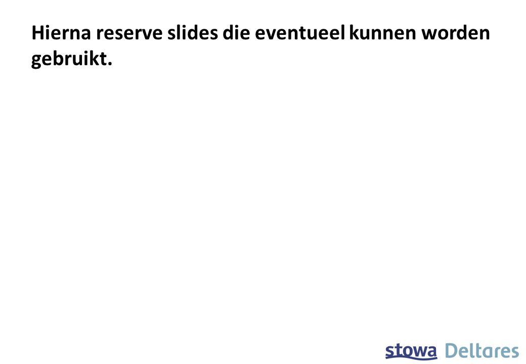 Hierna reserve slides die eventueel kunnen worden gebruikt.