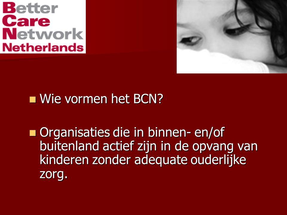 Wie vormen het BCN. Wie vormen het BCN.
