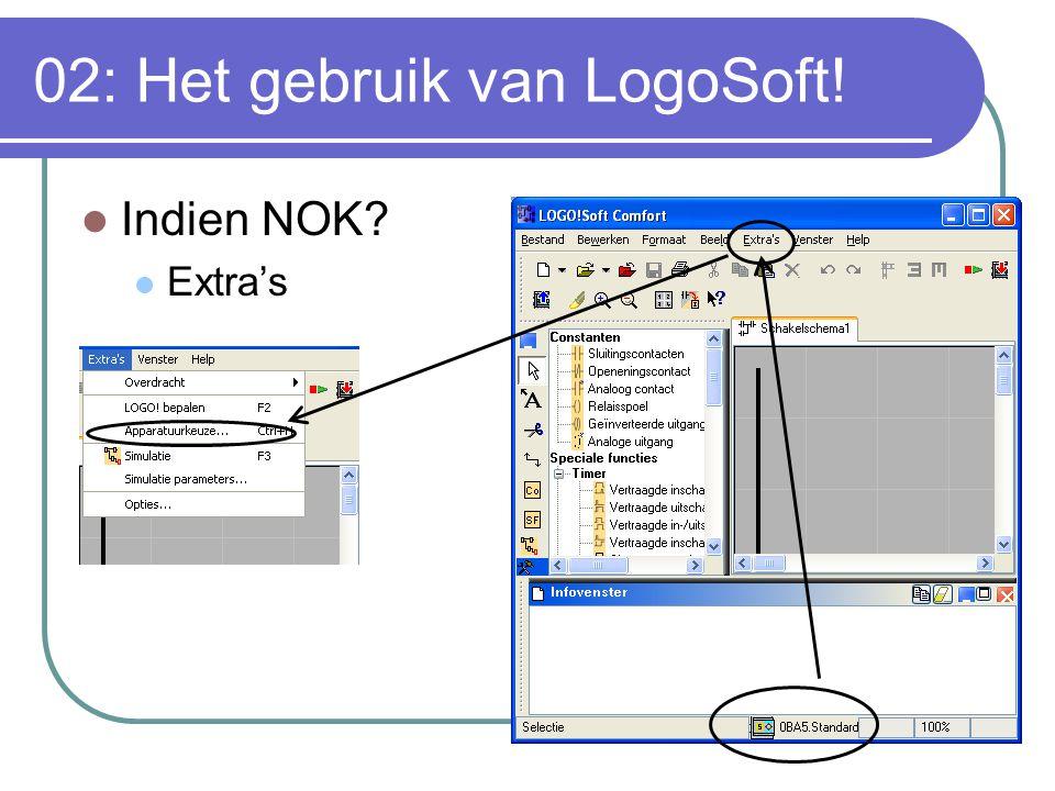 02: Het gebruik van LogoSoft! Indien NOK? Extra's