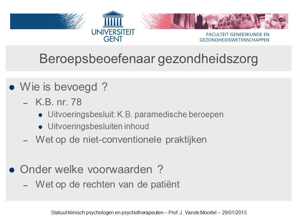 Beroepsbeoefenaar gezondheidszorg Wie is bevoegd .