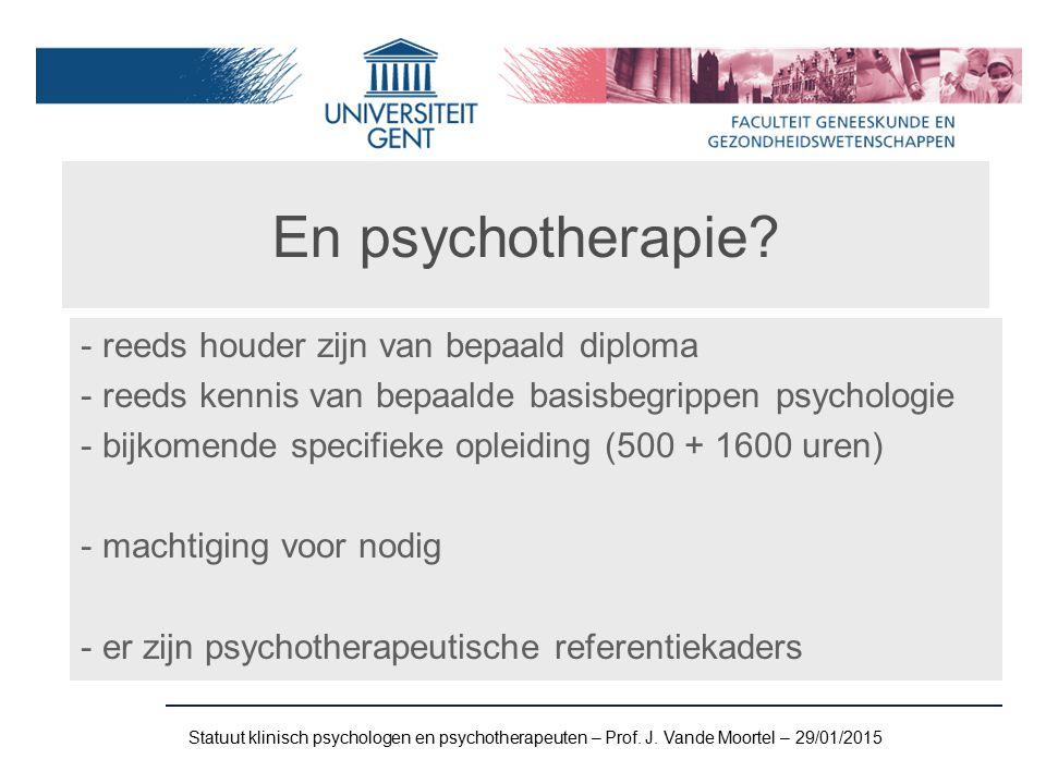 En psychotherapie.