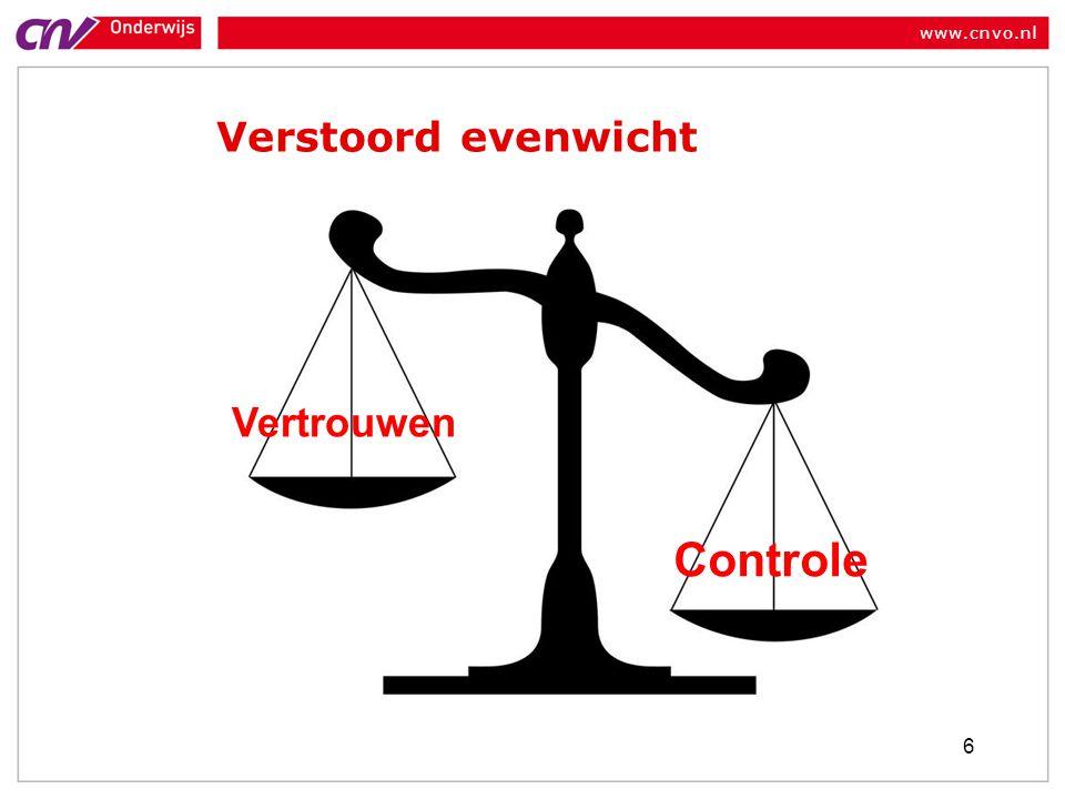 www.cnvo.nl Verstoord evenwicht 6 Controle Vertrouwen