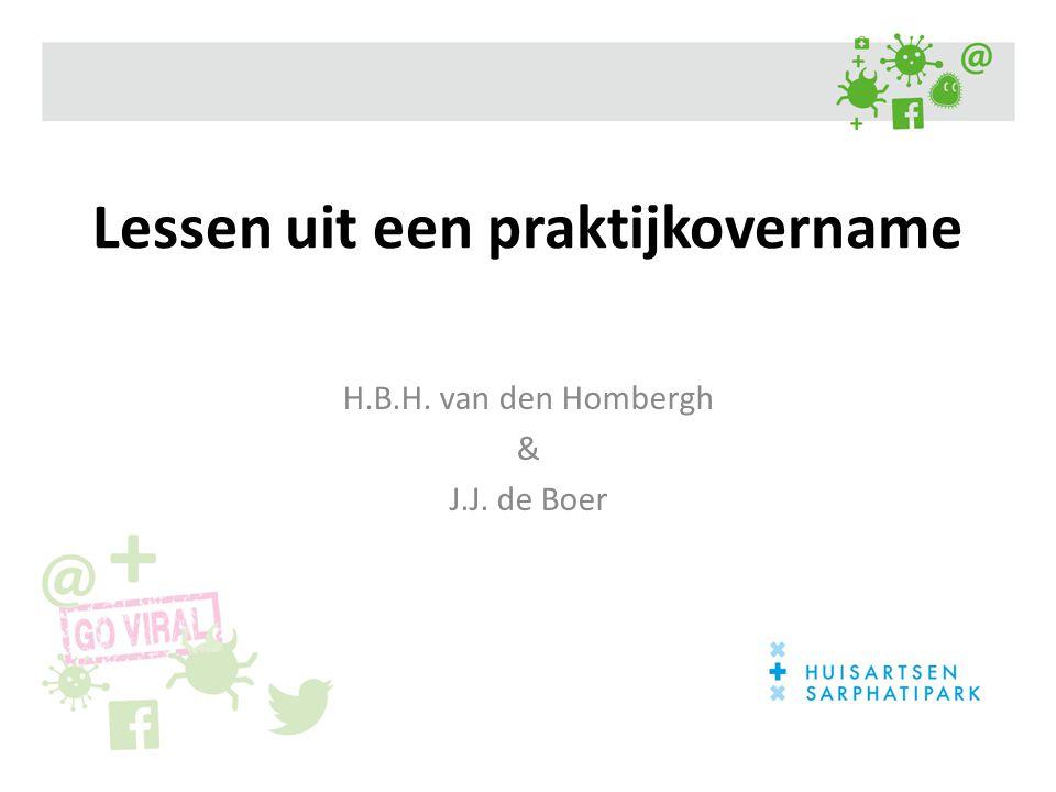 Lessen uit een praktijkovername H.B.H. van den Hombergh & J.J. de Boer