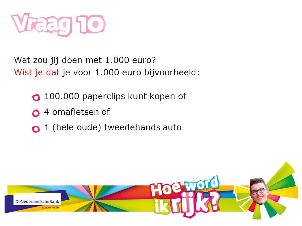 Wat zou jij doen met 1.000 euro.